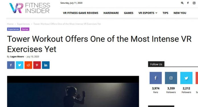 VR Fitness Insider article