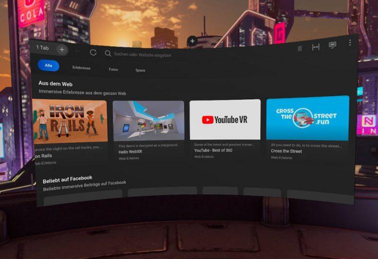 Cross The Street Fun auf der Oculus Browser Startpage