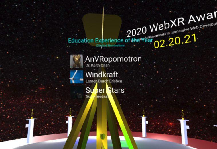 Wir sind für den WebXR Awards nominiert